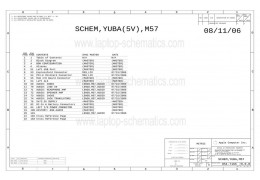 APPLE 820-2060 051-7165 YUBA M57 IO BOARD SCHEMATIC