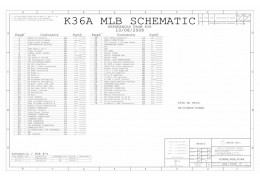 APPLE MACBOOK A1181 LOGIC BOARD SCHEMATIC – 820-2279 – K36A MLB