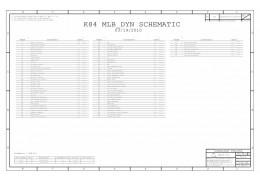 APPLE MACBOOK UNIBODY A1342  K84 MLB_DYN SCHEMATIC - 051-8568 820-2883