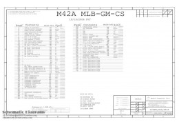 APPLE M42A MLB-GM-CS SCHEMATIC – 820-1889 – SCHEM,MLB,M42A