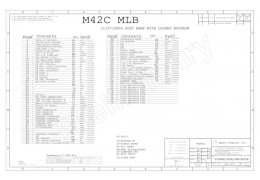 APPLE MACBOOK FA255 SCHEMATIC – M42C MLB – P/N:820-1889
