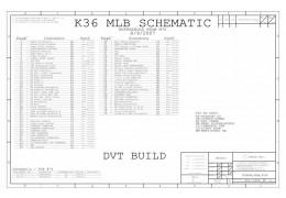 APPLE MACBOOK 13″ A1181 SCHEMATIC –  K36 MLB DVT