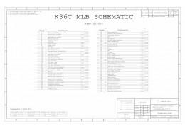 APPLE MACBOOK A1181 LOGIC BOARD SCHEMATIC –   K36C MLB