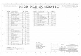 APPLE MACBOOK A1181 LOGIC BOARD SCHEMATIC –  M42B MLB